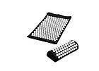 ОПТ Акупунктурный массажный коврик с подушкой-валиком массажер для спины/ног osport спортивный коврик черный, фото 3