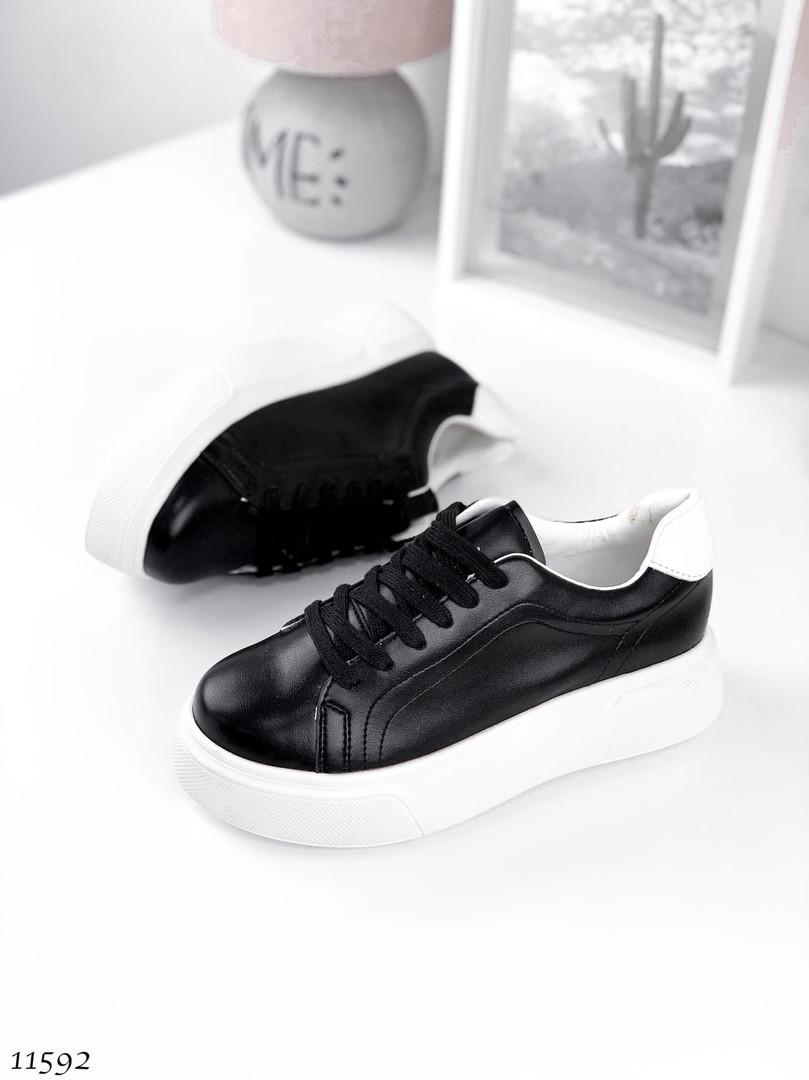 Кожаные кроссовки 11592 (ЯМ)