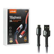Кабель USB-Micro USB LDNIO LS63 1м серый