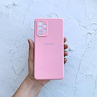 Чехол на Samsung Galaxy A52 Silicone Case розовый силиконовый / для Самсунг Гелекси А52