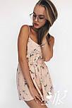 Жіночий літній комбінезон/ромпер на тонких бретелях (в кольорах), фото 3