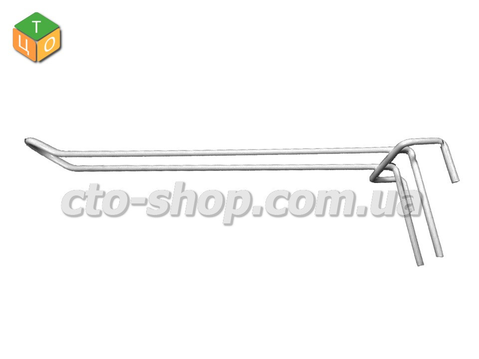 Гачок подвійний на сітку (25см)