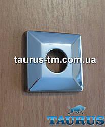 "Об'ємна квадратна декоративна чашка CUBE 56x56 Volume chrome (фланець), хром, висота 10 мм 1/2"""