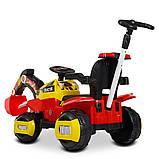 Трактор детский Электромобиль 4321BLR с подвижным ковшом ручкой, фото 4