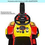 Трактор детский Электромобиль 4321BLR с подвижным ковшом ручкой, фото 5