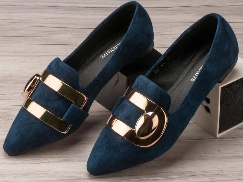 Туфли женские 6 пар в ящике синего цвета 36-40, фото 2