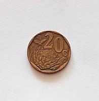 20 центов Южная Африка 1996 г., фото 1