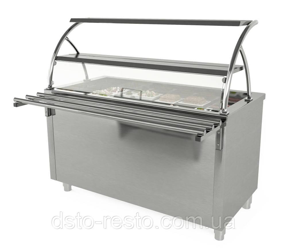 Прилавок для салатів 1000/700/1800 мм, дві полиці
