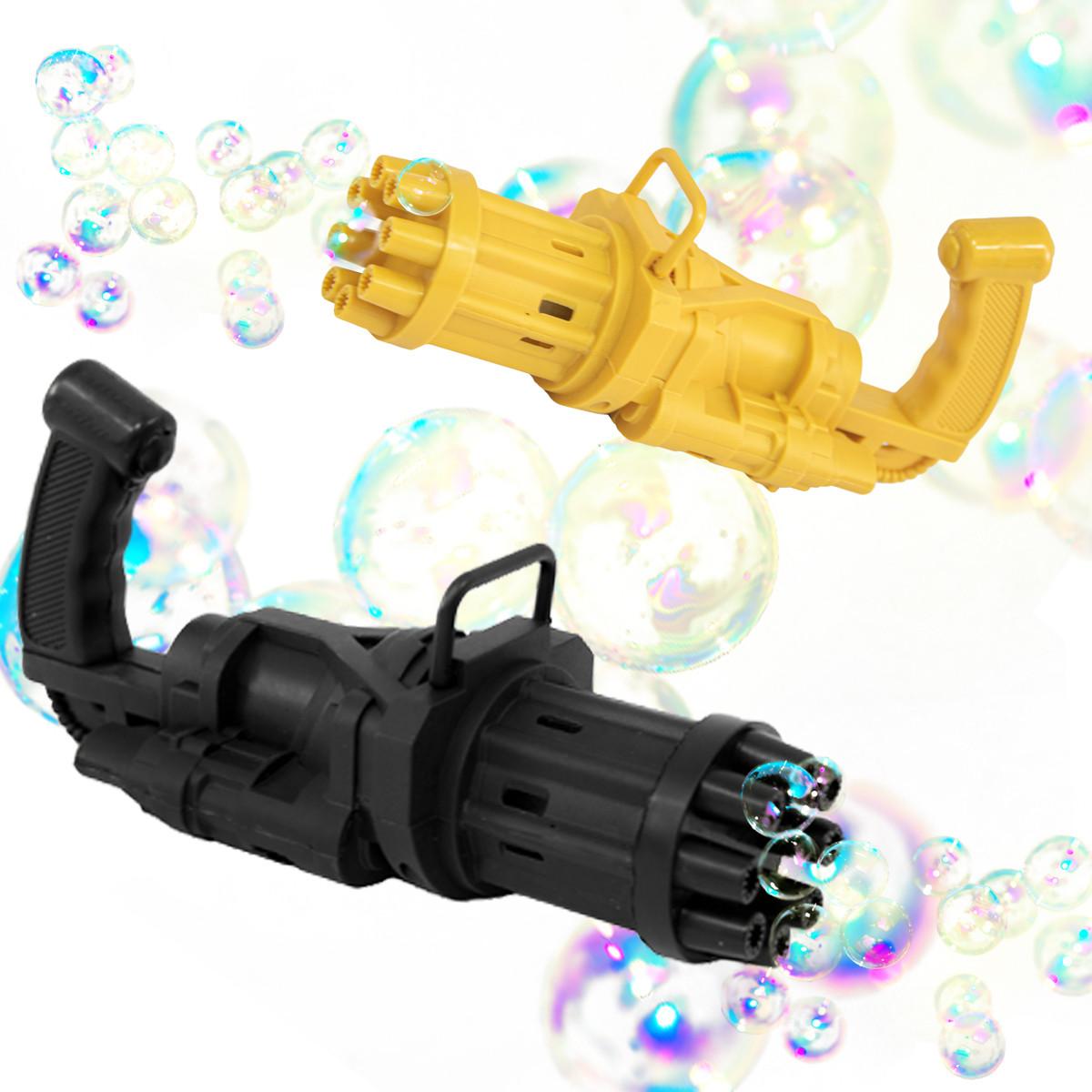 Автоматичні мильні бульбашки Bubble machine, Чорний кулемет машинка для мильних бульбашок (пузыремет)