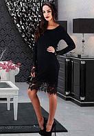 Черное платье с кружевом др