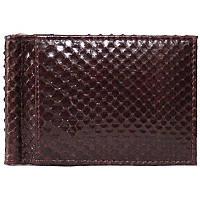 Универсальный зажим для денег из натуральной кожи питона, цвет коричневый