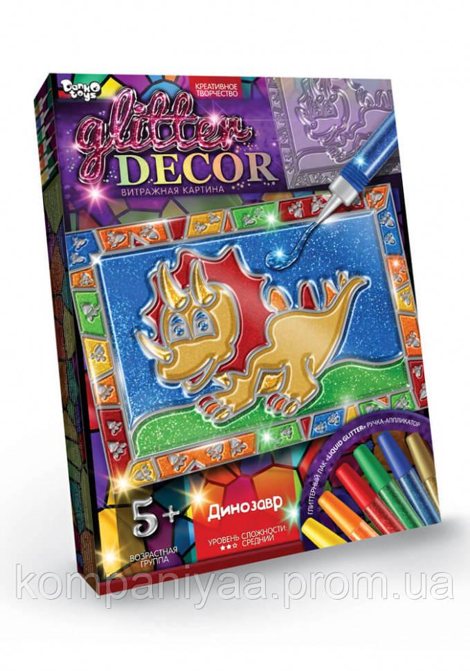 Набір для творчості Вітражна картина Glitter Decor 8149DT, 6 видів