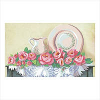 """Схема для вышивки бисером """"Посуда и розы"""""""