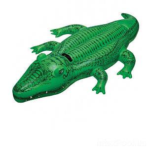 Дитячий надувний пліт для катання Intex 58546 «Крокодил», 168 х 86 см, (Оригінал)