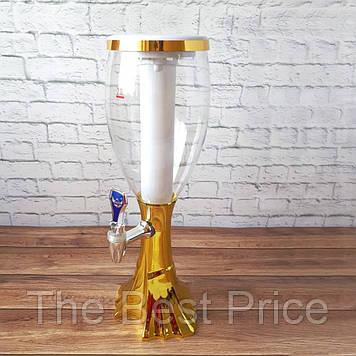 Диспенсер для напоїв Вежа Вавилон золото