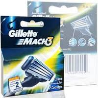 Сменные кассеты для бритья Gillette Mach 3 2шт. в упаковке, фото 1