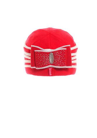 Молодежная теплая стильная  шапка с бантом., фото 2