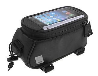 Велосипедна Сумка під смартфон Sahoo 1,2 L Чорний