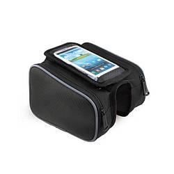 Велосипедна Сумка під смартфон Sahoo Top-tube Bag 12813L-A 0,8 L Чорний