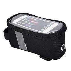 Велосипедна Сумка під смартфон Sahoo Classic 122001 1L Чорний
