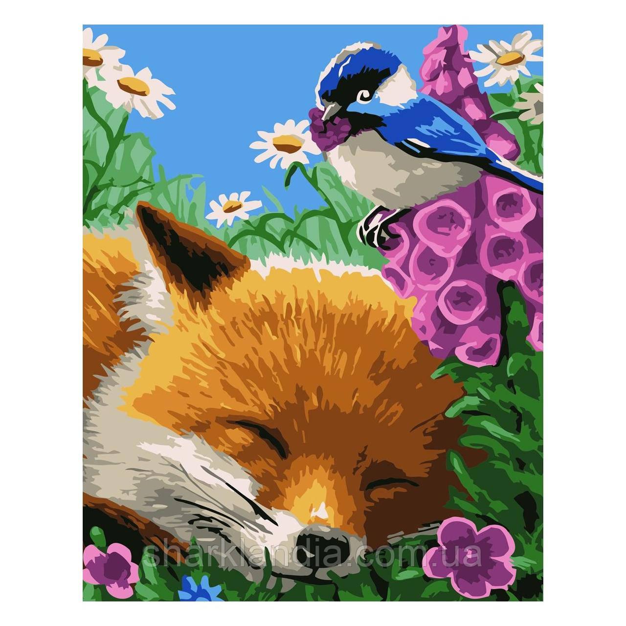 Картина по номерам Лис на отдыхе 30х40 см Strateg Раскраски