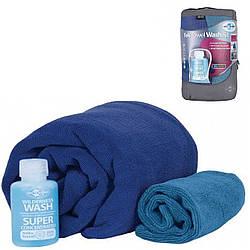 Набір рушників та шампунь Sea To Summit Tek Towel Wash Kit XL Cobalt Blue