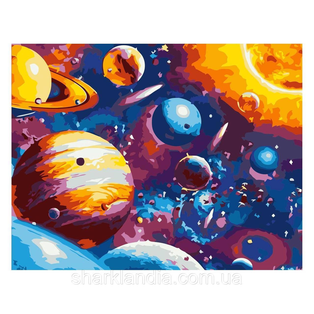 Картина по номерам Живописный космос 30х40 см Strateg Раскраски Космос Для начинающих