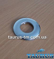 """Круглий декоративний фланець mini, з н/ж сталі полірування, розмір D42мм, 1/2"""""""