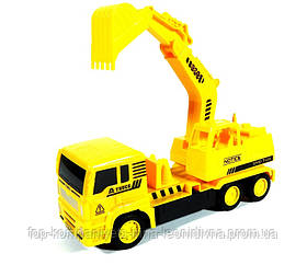 Автомобіль будтехніка Умняшка радиуправляемый на акумуляторах жовтий (К1А/HL-1A)