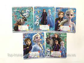 Набор тетрадей ученических 12 листов ТЕТРАДА DISNEY  Frozen  Осень  клетка картонная обложка 5 дизайнов 25 шт