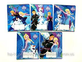 Набор тетрадей ученических 12 листов ТЕТРАДА DISNEY  Frozen Best линия картонная обложка 5 дизайнов 25 шт
