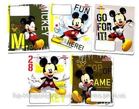 Набор тетрадей ученических 18 листов ТЕТРАДА DISNEY  Микки  Маус  клетка картонная обложка 5 дизайнов 20 шт