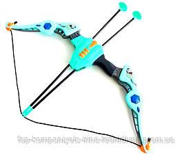 Лук дитячий з прицілом XWIN пластиковий 68см світитися звукові ефекти сагайдак стріли на присосках 54см мішень