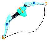 Лук дитячий з прицілом XWIN пластиковий 68см світитися звукові ефекти сагайдак стріли на присосках 54см мішень, фото 2