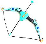 Лук дитячий з прицілом XWIN пластиковий 68см світитися звукові ефекти сагайдак стріли на присосках 54см мішень, фото 7