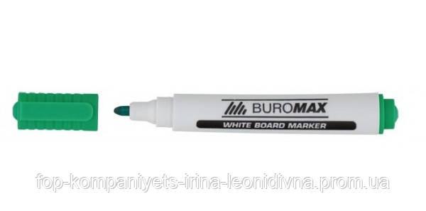 Маркер для магнітних дошок BUROMAX , зелений (12/уп.)