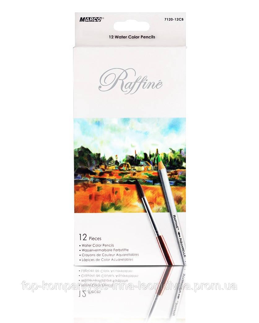 Набор цветных карандашей MARCO Raffine акварельные  12 цветов (7120-12)