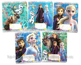 Набор тетрадей ученических 18 листов ТЕТРАДА DISNEY Frozen Осень клетка картонная обложка 5 дизайнов 20 шт