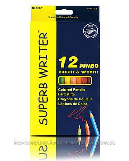 Набір кольорових олівців MARCO Superb Writer JUMBO з точилкою 12 кольорів (4400-12)