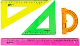 Набір кольорових лінійок Кз 20см (4 предмета) великий