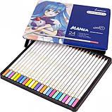 Набір кольорових олівців MARCO Chroma (Manga) Super Premium в металевому пеналі 24 кольору (8550-24TN), фото 3