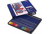 Набір кольорових олівців MARCO Chroma Super Premium в металевому пеналі 24 кольору (8010-24TN), фото 3