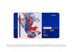 Набір кольорових олівців MARCO Chroma Super Premium в металевому пеналі 72 кольору (8010-72TN)