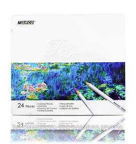 Набір кольорових олівців MARCO Raffine в металевому пеналі 24 кольору (7100-24TN)