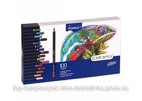 Набір кольорових олівців MARCO Chroma Super Premium 100 кольорів шестигранні (8010-100)