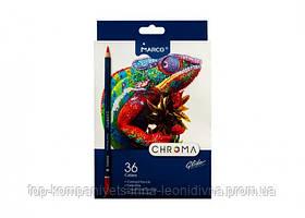 Набір кольорових олівців MARCO Chroma Super Premium 36 кольорів шестигранні (8010-36)