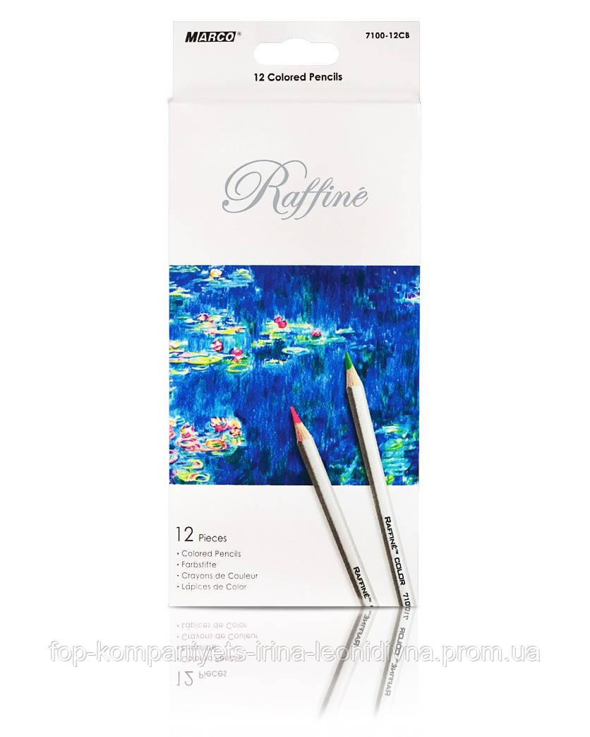 Набір кольорових олівців MARCO Raffine 12 кольорів (7100-12)