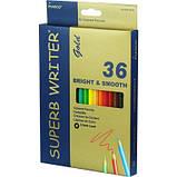 Набор цветных карандашей MARCO Superb Writer GOLD 36 цветов (4100G-36), фото 2