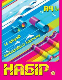 Набір кольорового картону ТЕТРАДА А4 14л/7цв (ТЕ250)