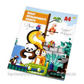 Набір кольорового паперу Кольоровий ТЕТРАДА дует А4 7л/14цв одностороння (ТЕ1185)